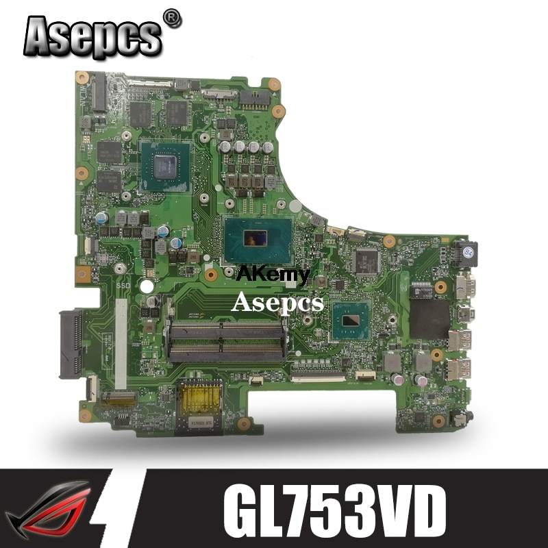 GL753VD motherboard For Asus GL753 GL753VD GL753VE FX73V laptop motherboard I7-7700HQ GTX1050