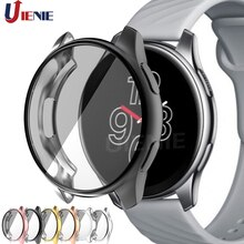 Screen Protector Case Frame for Oneplus Watch TPU Plating All-Around Cover One Plus Protection Cases