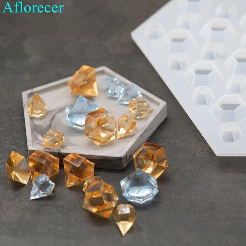 27holes DIY Diamond Shape Silicone Soap Mold Resin Casting Water Drop Epoxy Silicone Mold Crystal Diamond Bracelet Pendant Mold
