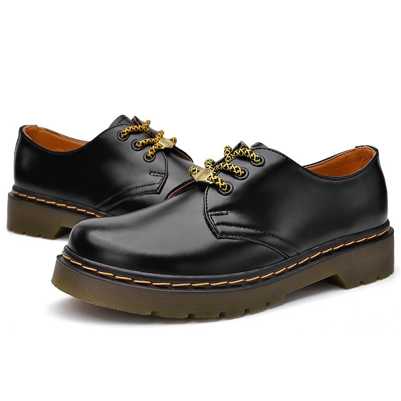 2020 جديد المرأة أحذية من الجلد عادية المرأة موضة كل مباراة المرأة أكسفورد أحذية المنخفضة قطع مارتن الأحذية جلد البقر زوجين الأحذية
