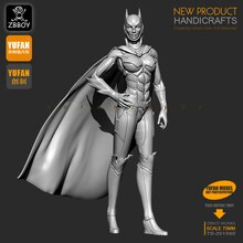 1/24 S figurines en résine Kits Batman femmes, soldat en résine auto-assemblé 75MM TD-201980
