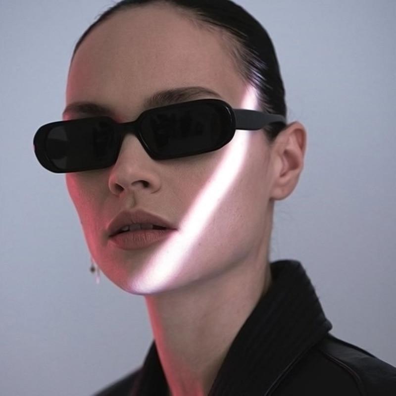 Brand Designer Small Sunglasses for Women Fashion Oval Sun Glasses Men Vintage Leopard Eyewear Ladie