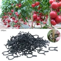100pcs plant garden clips vegetable plant vine support clips for holding plant stems