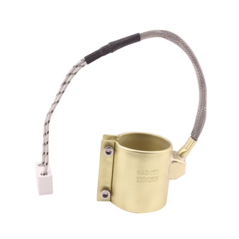 42x50mm 220V 280W Electric Copper Barrel Brass Band Heater for Extruder Home Appliance Parts Replace
