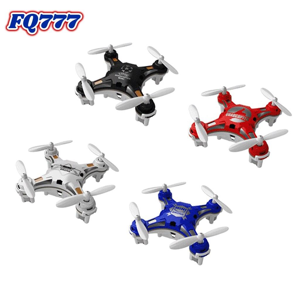 Dron FQ777-124 de bolsillo de 4 canales, 6 ejes, cuadricóptero giroscópico con controlador conmutable, helicóptero de Control remoto RTF, regalo de juguete para niños