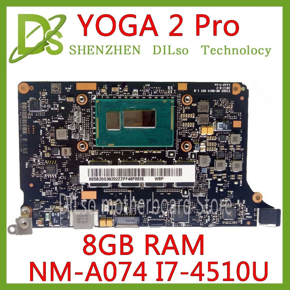 KEFU NM-A074 для Lenovo Yoga 2 Pro Материнская плата для ноутбука 5B20G38213 VIUU3 NM-A074 I7-4500/i7-4510U процессор 8 Гб RAM оригинальный mothebroard