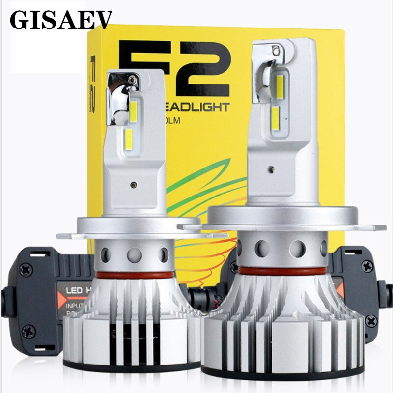 72W 12000LM F2 H4 H7 H8 H11 H13 Auto LED Scheinwerfer Nebel Glühbirne F2 H7 H11 H8 9005 9006 H1 880 Auto Scheinwerfer LED Kit H4Led Objektiv