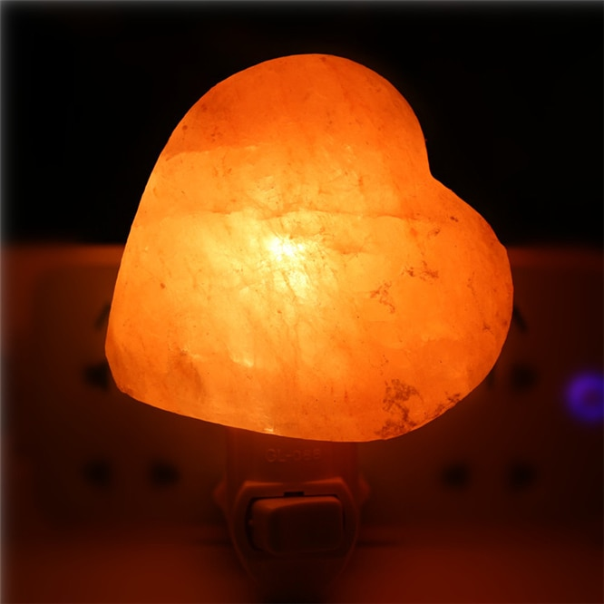 50pcs Newest Wall light Himalayan Salt Lamp Air Purifier Crystal Salt Rock Bedside Night Light for Children's bedroom light