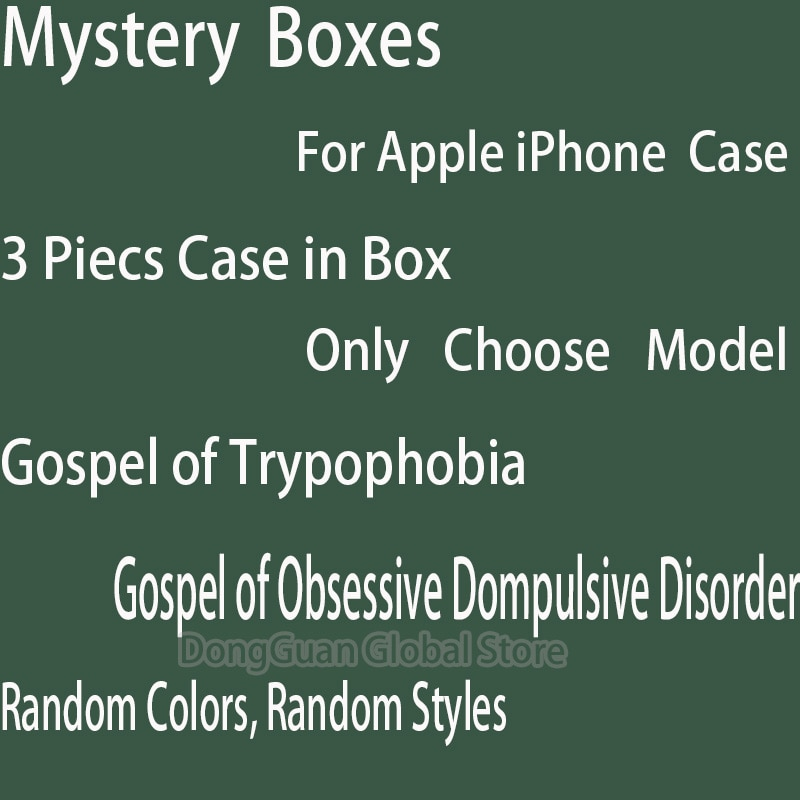 Mystery Boxes 3Pcs Phone Case For iPhone 12 11 Pro X XS Max XR For iPhone  6 6S 8 7 Plus Protective Cover Case