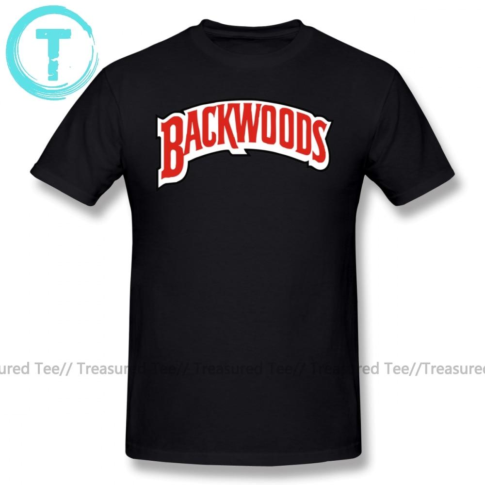 Camiseta Backwoods con Logo, Camiseta clásica de algodón 100 por ciento, camiseta de manga corta, divertida camiseta de gran tamaño con gráfico para hombre