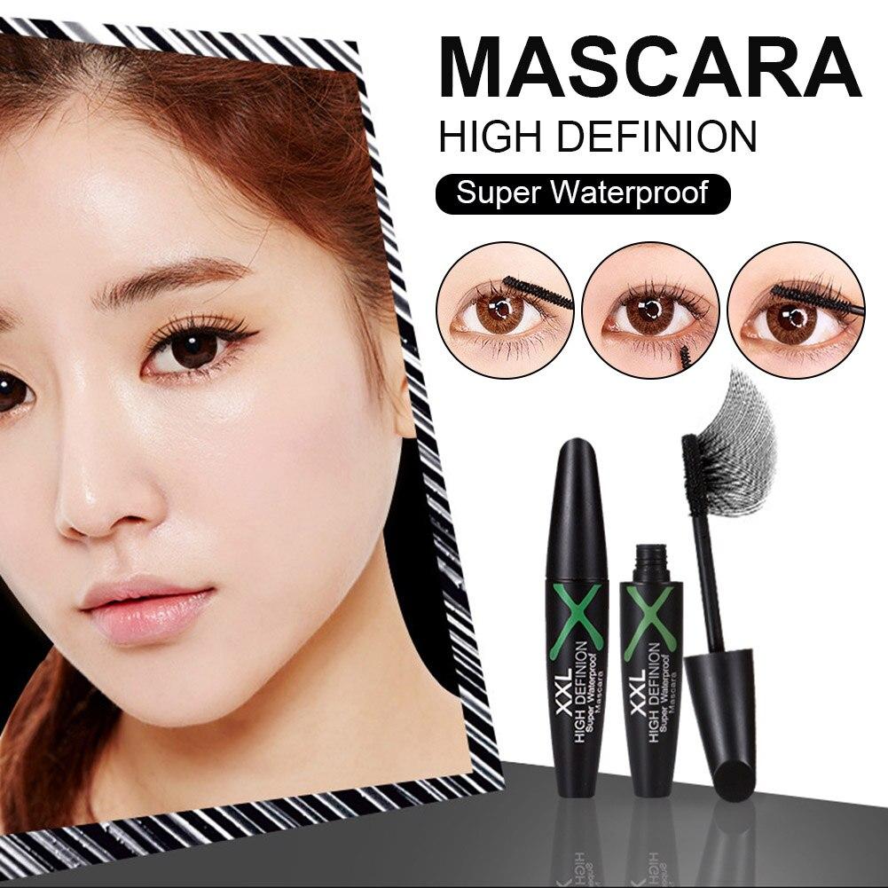Mascara Black Volumizing Mascara Waterproof Smudge-proof Eye Lashes Look Eye Makeup Gift for Girls W