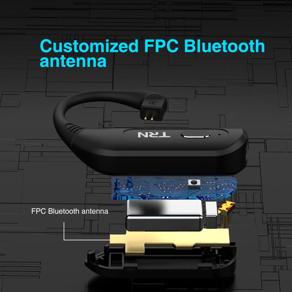TRN BT20S PRO APTX Wireless Bluetooth 5.0 HIFI Earphone 2PIN/MMCX QDC Connector Replaceable plug Ear Hook For TRN BA8 VX ST1 enlarge