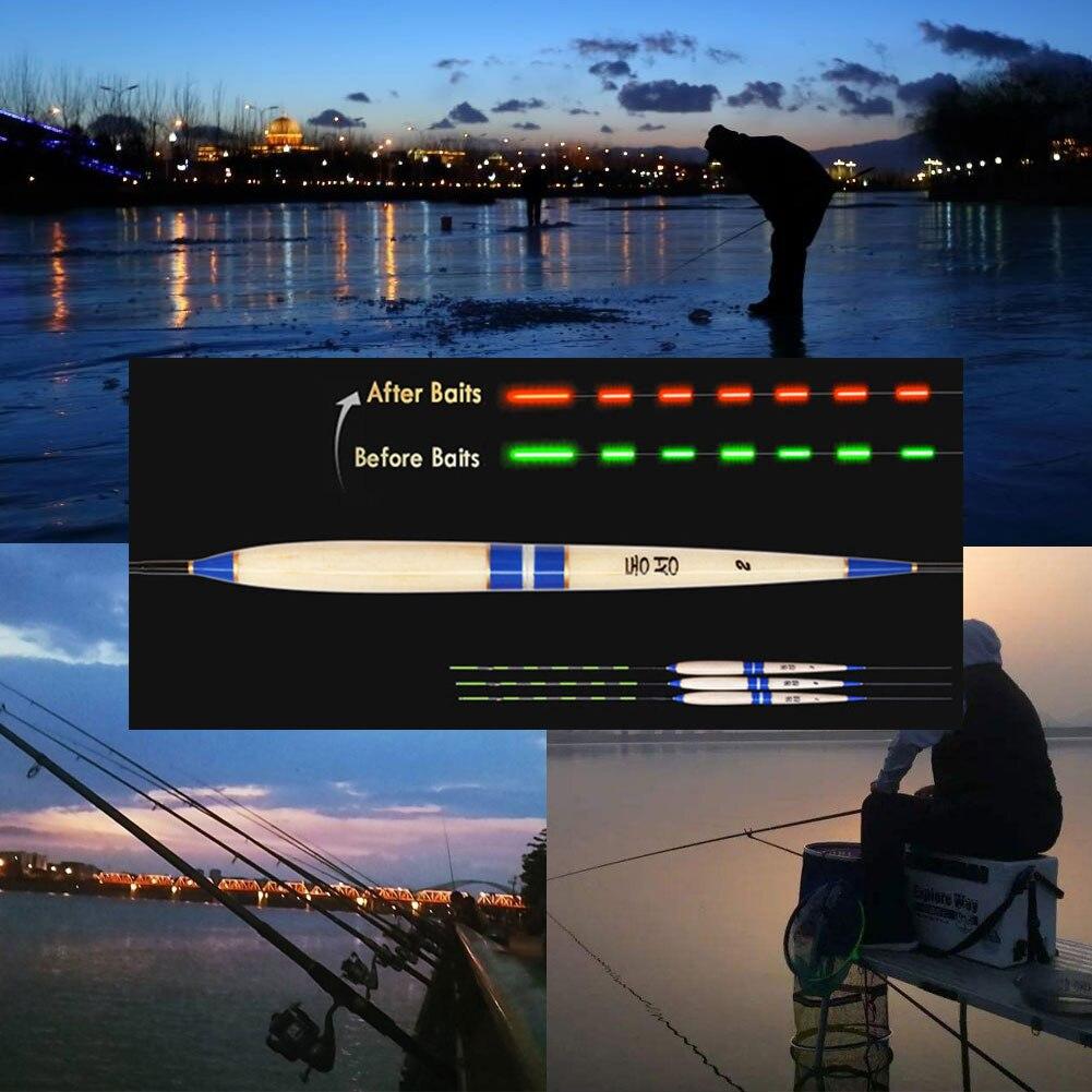 Cebo de mordida inteligente que cambia de Color, luz led para pescar, flotador Flexible, sensor de gravedad, luminoso, accesorios electrónicos de noche para exteriores