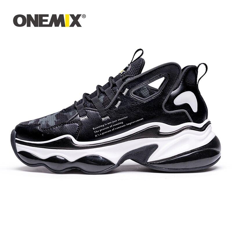 Onemix casal tênis de corrida homens aumento de altura 7 cm almofada ar tênis moda asa reflexiva sapatos esportivos andando tênis
