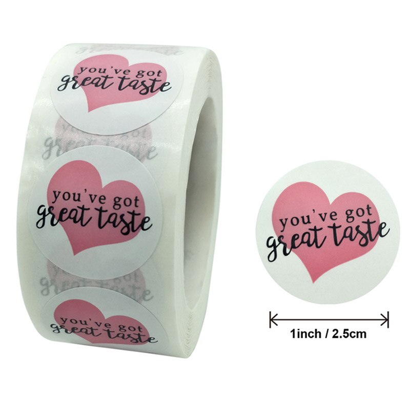 50pcs Round You've got great taste stickers Seal Labels Cute Gift Decorative Sticker for Business Package Envelope Sticker