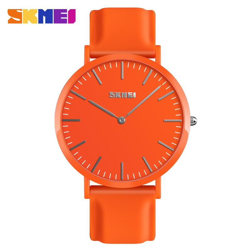Reloj para parejas SKMEI, Reloj deportivo sencillo para hombre, Reloj de pulsera informal resistente al agua, Reloj de pulsera suave de silicona para Mujer, Reloj de Mujer 9179