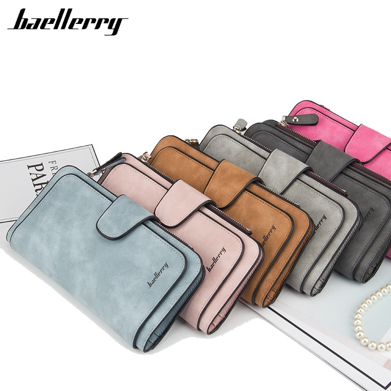 Baellerry Women's Wallet Leather Female Purse For Women Coins Pocket Card Holder Money Bags Casual L