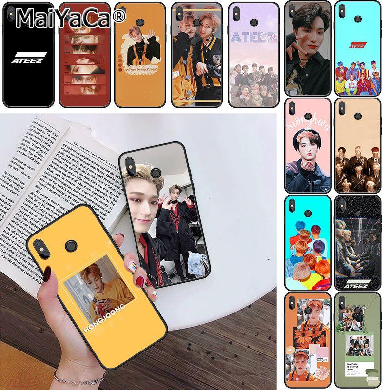 MaiYaCa ATEEZ HongJoong SeongHWA funda de teléfono para Xiaomi mi5 6 A1 A2 Lite Mi9 9SE mi8lite F1 Mix2 2S Max2 Max3