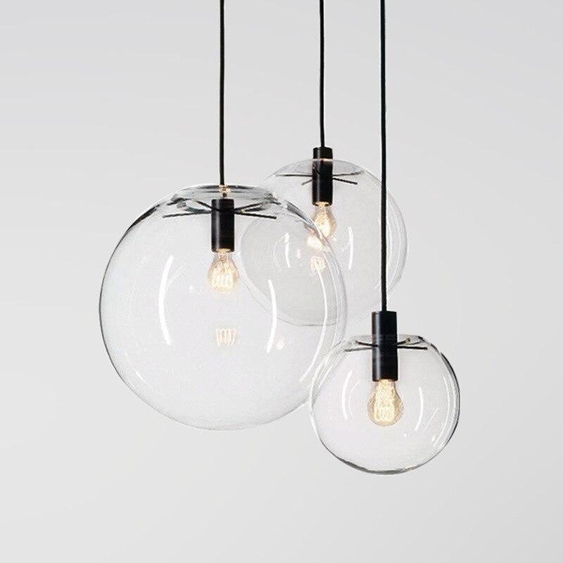 Lámpara colgante de cristal para dormitorio o sala de estar