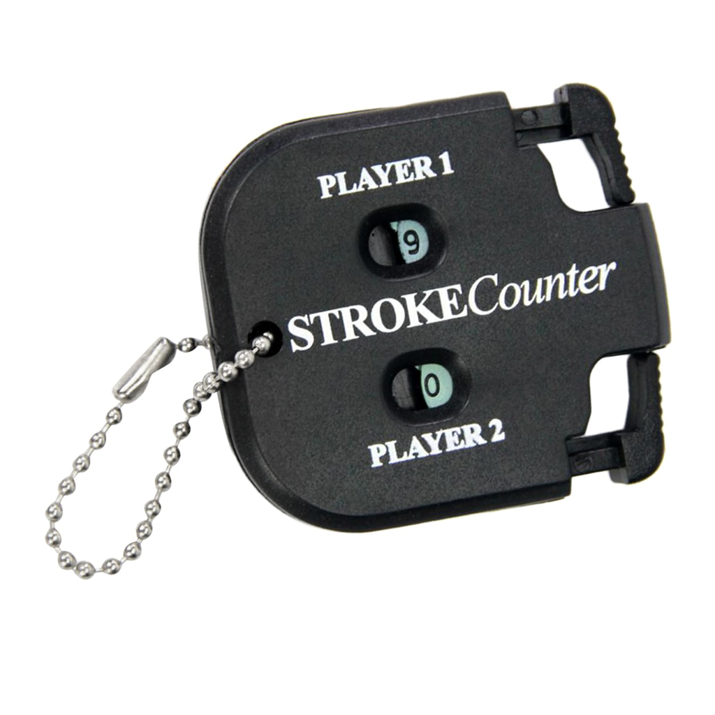 Portable Double Golf Count Stroke Putt Score Counter Scoring Keeper Supplies -60 x 60mm