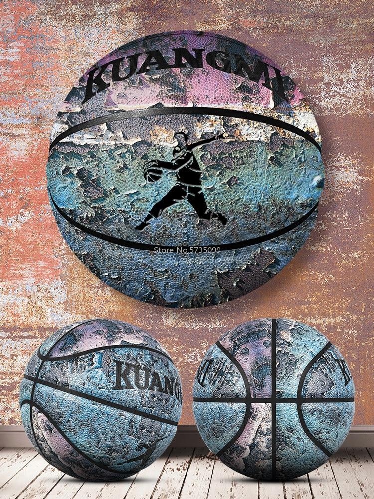 Нет. 7 уличные фантазии heavy metal Баскетбол из искусственной кожи Крытый тренировочный Баскетбол