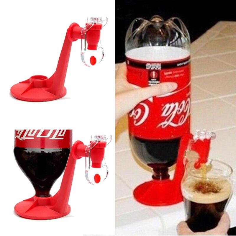 New Novelty Saver Soda Dispenser Bottle Coke Upside Down Drinking Water Dispense Machine For Gadget Party Home Bar