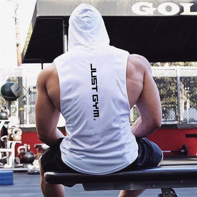 New Fashion Cotton Sleeveless Shirts Gym Hoodies Tank Top Men Fitness Shirt Bodybuilding Singlet Workout Vest Men