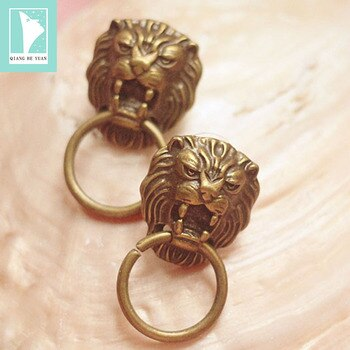 Vintage lion door knocker earrings for women exaggerated copper earrings 2019 kolczyki kupe brincos pendientes mujer