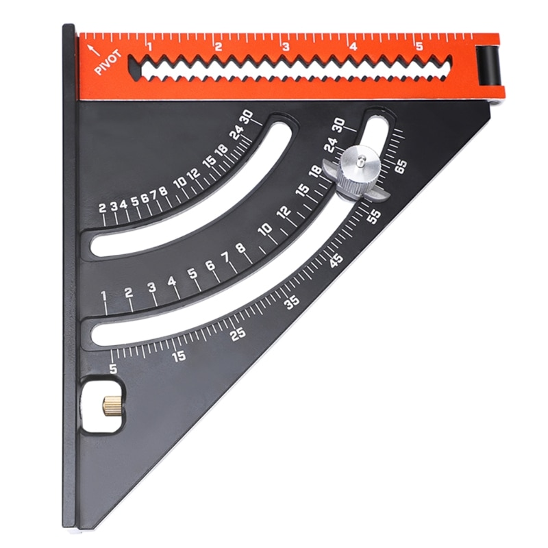 Goniometer Triangle Square Ruler with Base, Magnet Woodworking Extendable Tool K3KB