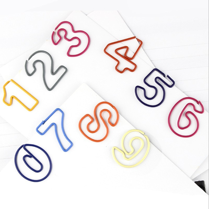 500pcs/lot digital cute creative note book holder student stationery reward office supplies storage paper clip paperclip