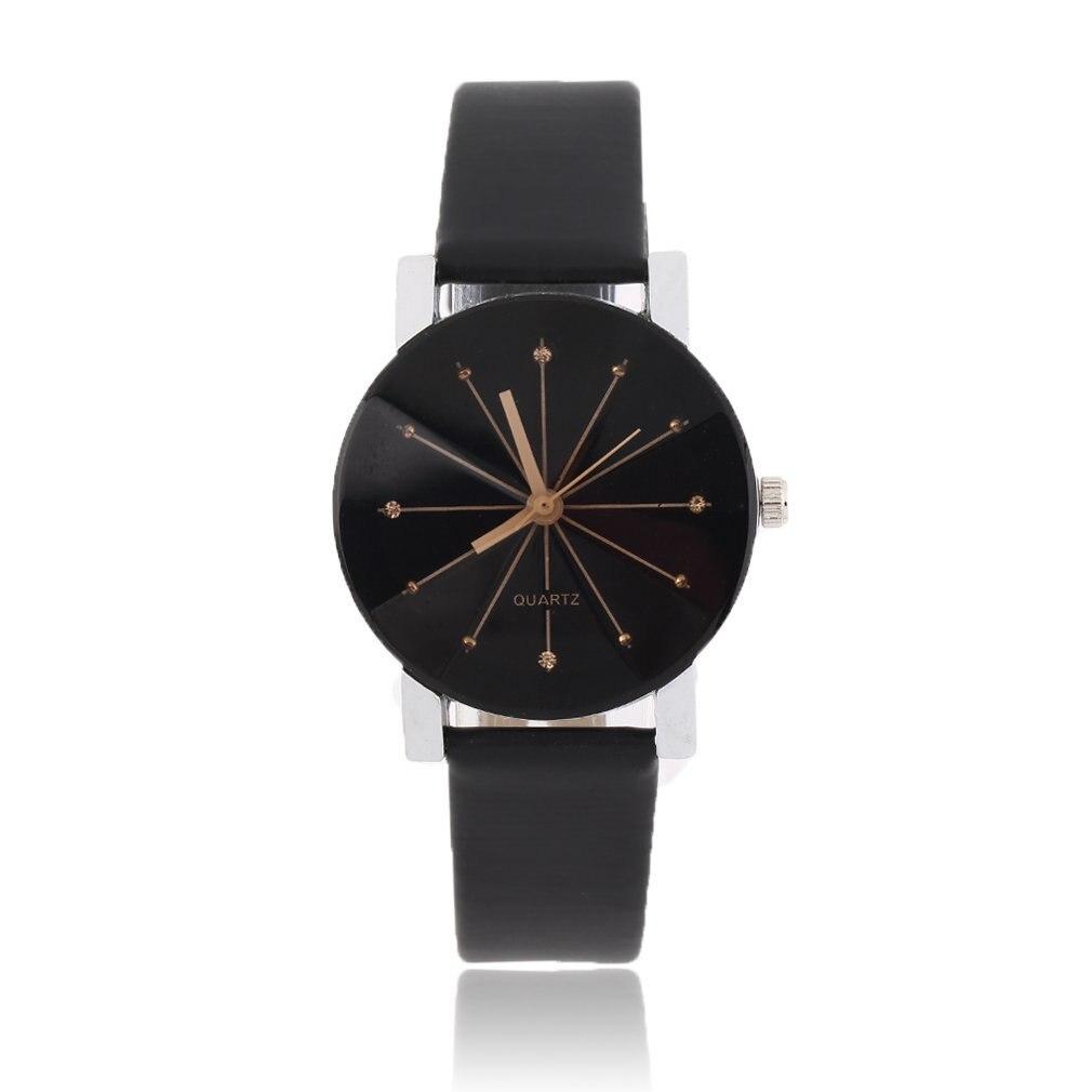 Fashionable Wrist Watch Man Women Lovers Couple Luxury Quartz Movement Needle Time Wrist Watches PU