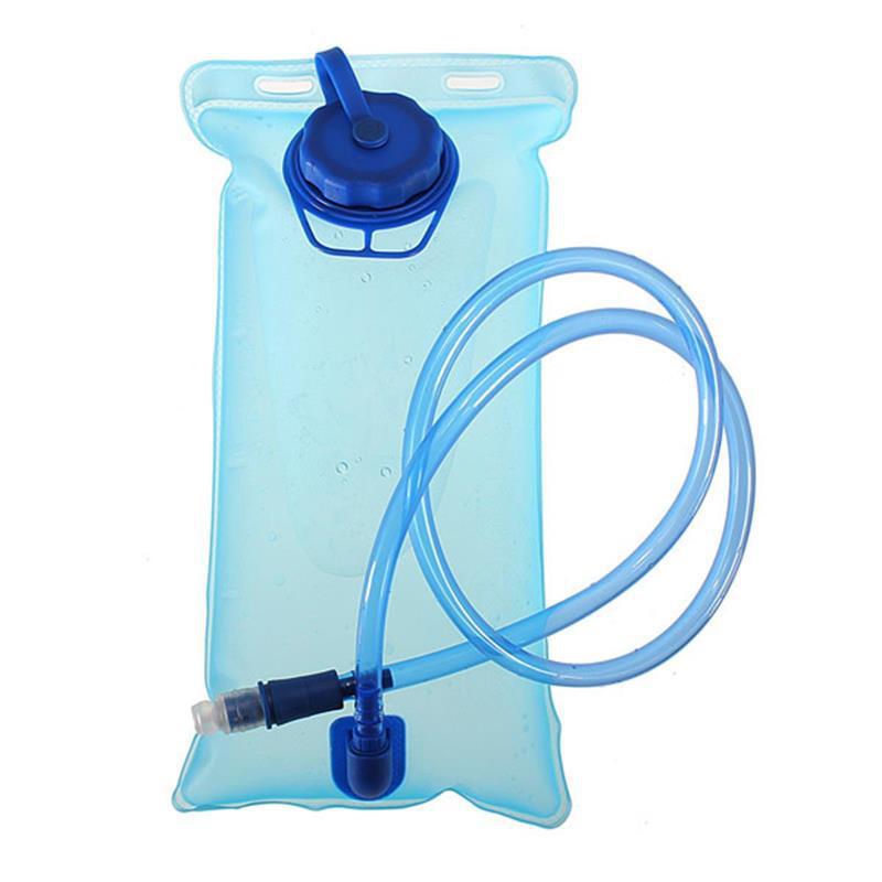 Bolsa de agua para bicicleta de 2l, a prueba de fugas, con depósito de agua de color Camel, resistente a altas temperaturas, gran capacidad, para viaje y acampada