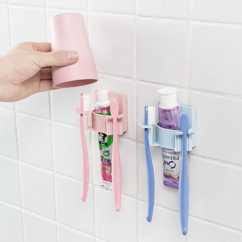 Wall-Mounted Toothbrush Holder Bathroom Accessories  Brush Holder  Toothbrush Holder Wall enlarge