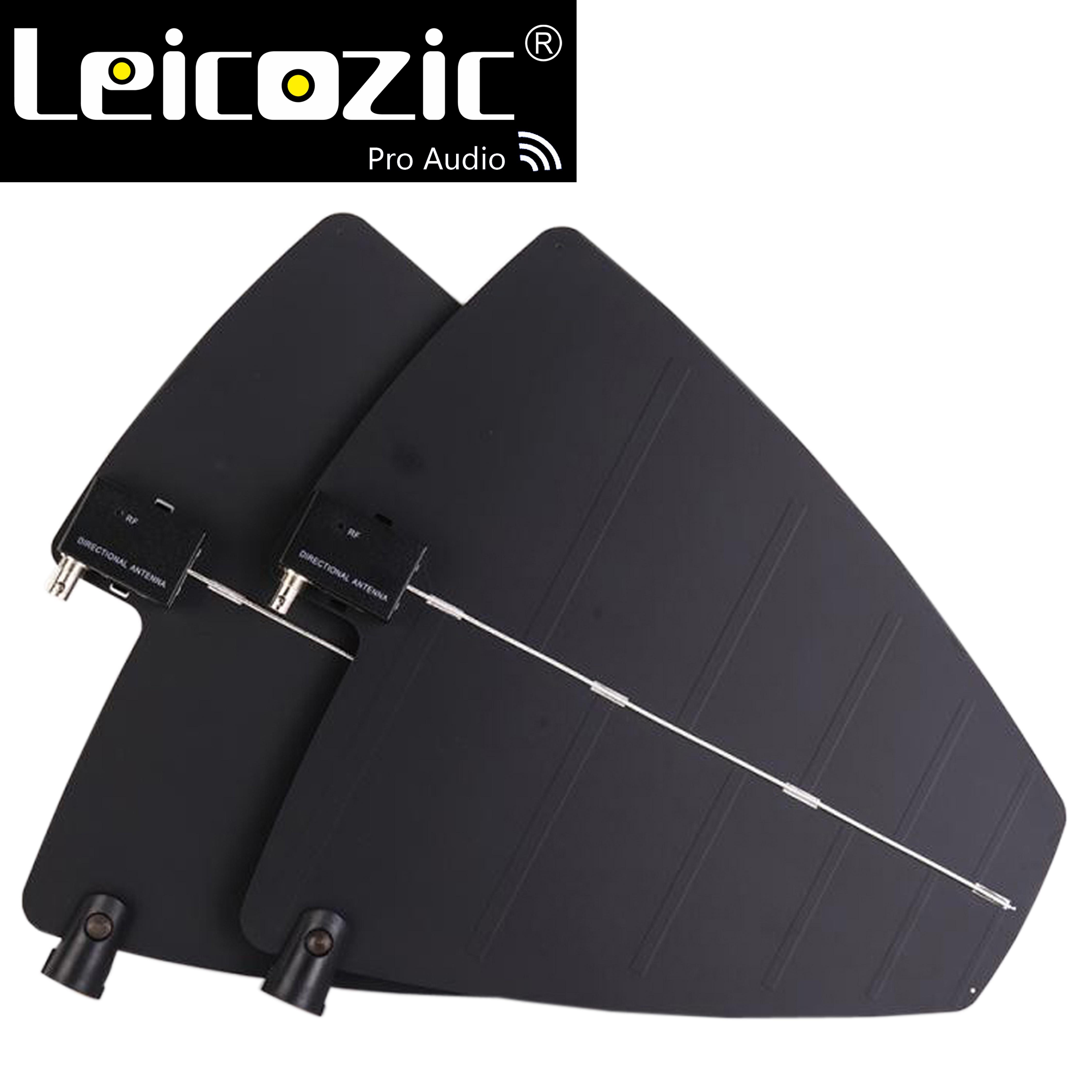 Leicozic 2X antena direccional activa y sistema Splitter Amp kit de antena UHF amplificador integrado para micrófono UHF inalámbrico