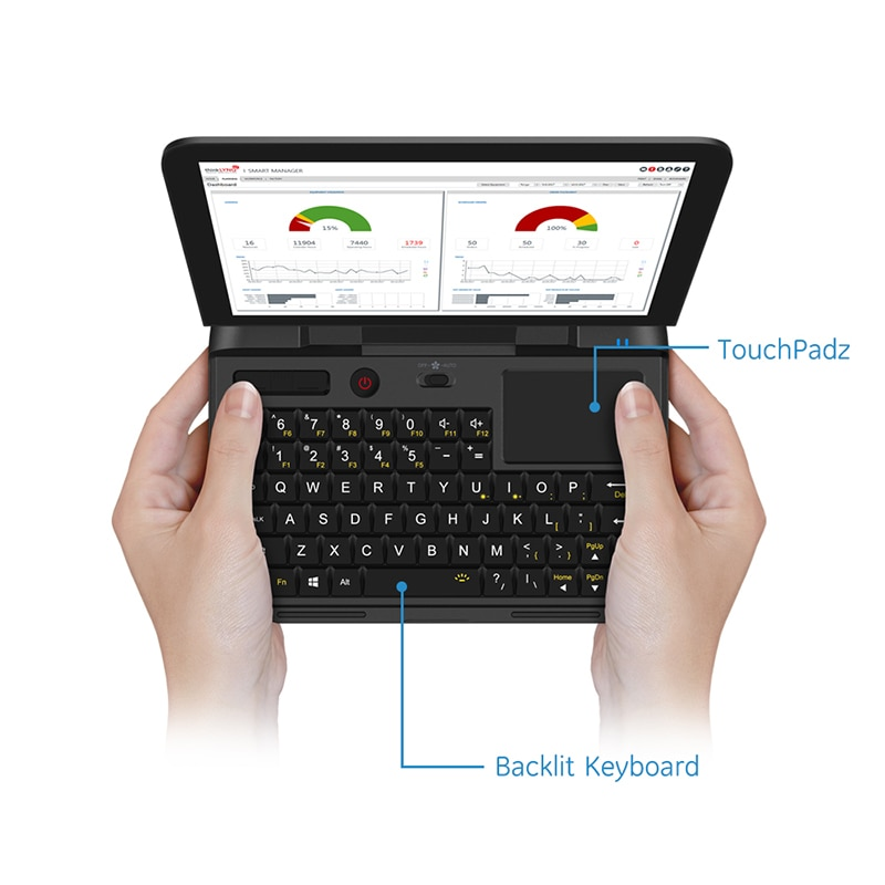 Cheap Pocket Laptop Netbook Computer Notebook GPD MicroPC 6 Inch RJ45 RS232 HDMI-Compatible  Windows 10 Pro 8G RAM Backlit