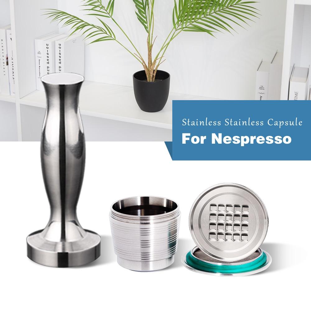 Капсула Nespresso из нержавеющей стали для кофе, 4 шт. в наборе, многоразовый темпер для кофе в подарок на день рождения и деловым партнерам