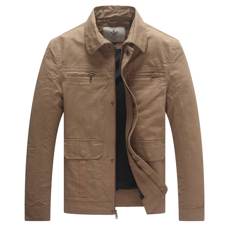 Мужская повседневная весенняя куртка, хлопковая парусиновая куртка для мужчин, легкая