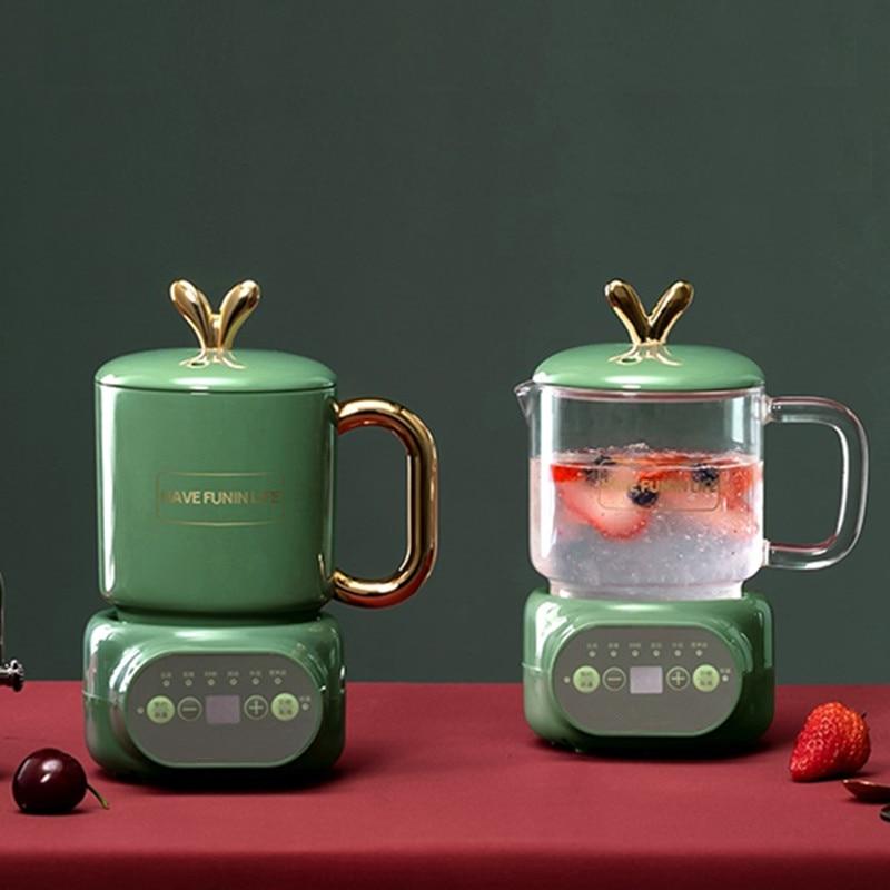 220V 600ML Mini Electric Stewing Cup Office Tea Porridge Milk Heating Water Kettle Ceramic/Glass Health Soup Cooker