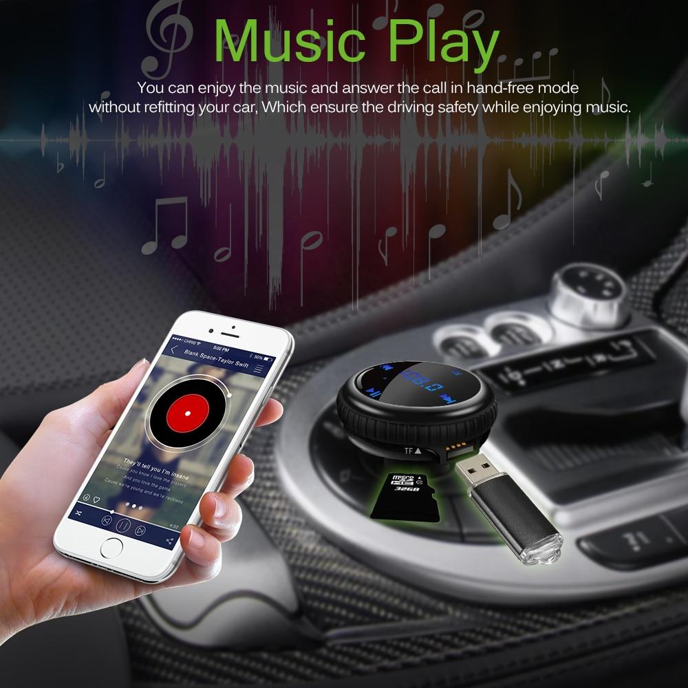 ¡Producto en oferta! Transmisor FM Bluetooth Kit de manos libres para el automóvil con GPS para coche localización de coche reproductor de Audio MP3 cargador USB LED