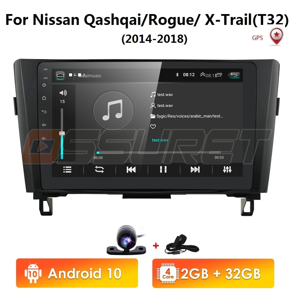 2din Android10 4G 64G Auto No Lettore DVD multimedia Radio Per Nissan X-Trail XTrail T32 Qashqai j11 di Navigazione GPS usb dvr obd bt