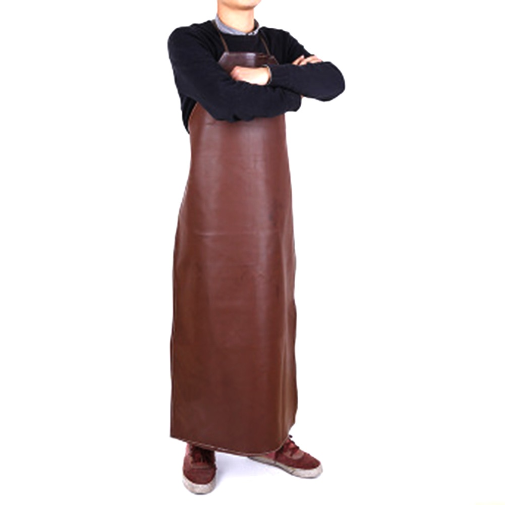 Leather Welding apron Equipment Safety Workwear Waterproof Comfortably