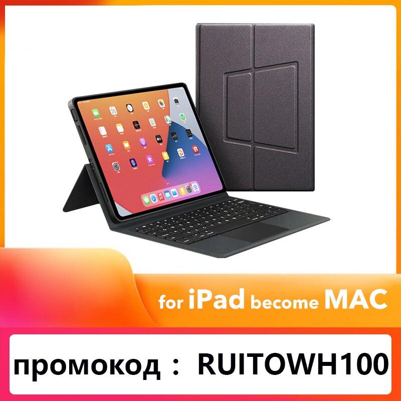 Case para Ipad 2 em 1 Ipad Case Teclado 11 2021 ar 3th 4th Pro 9.7 12.9 Drop-proof ou Dust-proof 10.2 10.5