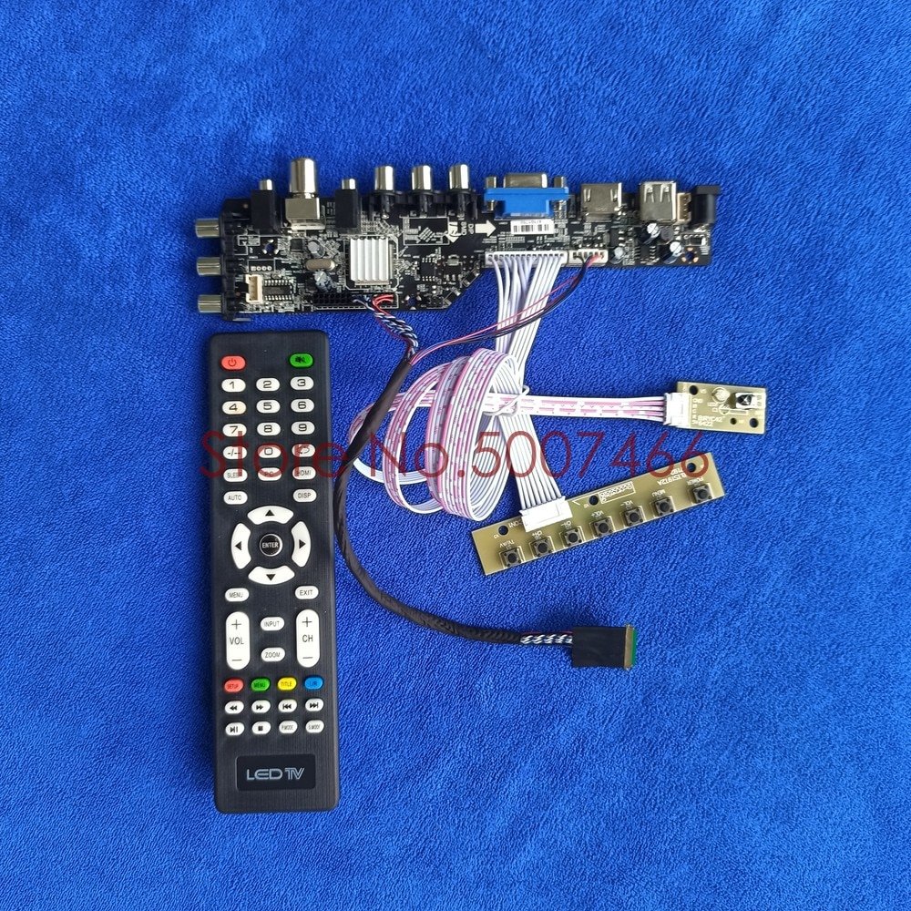 تناسب LTN156AT05-S01/U09/W01/Y02/001 AV VGA USB DVB 3663 TV الرقمية 1366*768 شاشة 40 دبوس LVDS ترقية LCD مجموعة لوحة القيادة