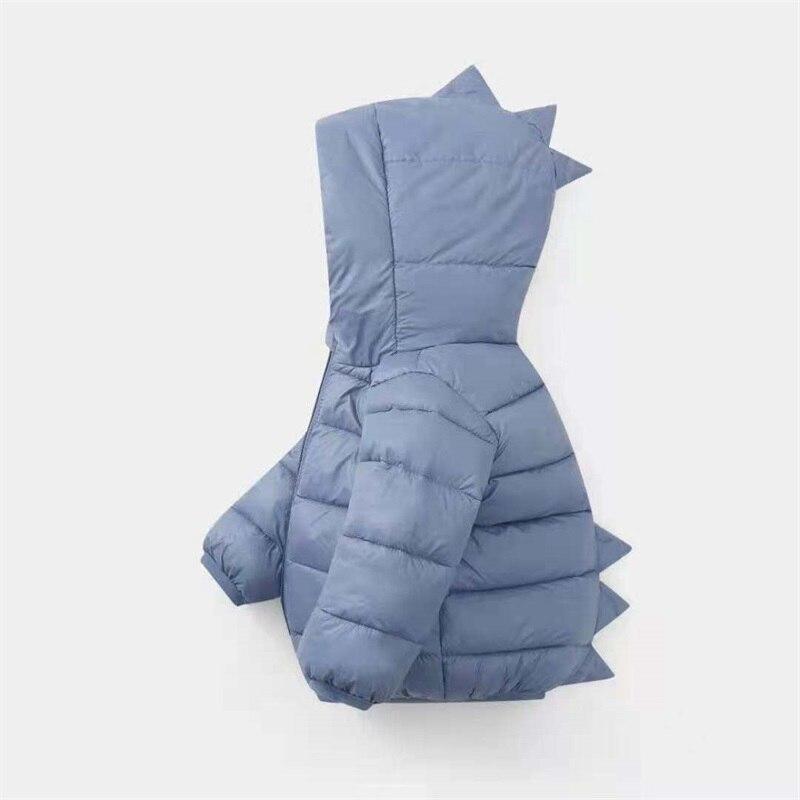 Cute Baby Outerwear Winter Lovely Dinosaur Style Boys Girls Children Kids Cotton Coats