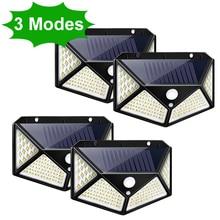 3 режима светодиодный солнечный свет на открытом воздухе Солнечная лампа движения PIR Сенсор настенный светильник Водонепроницаемый на солн...