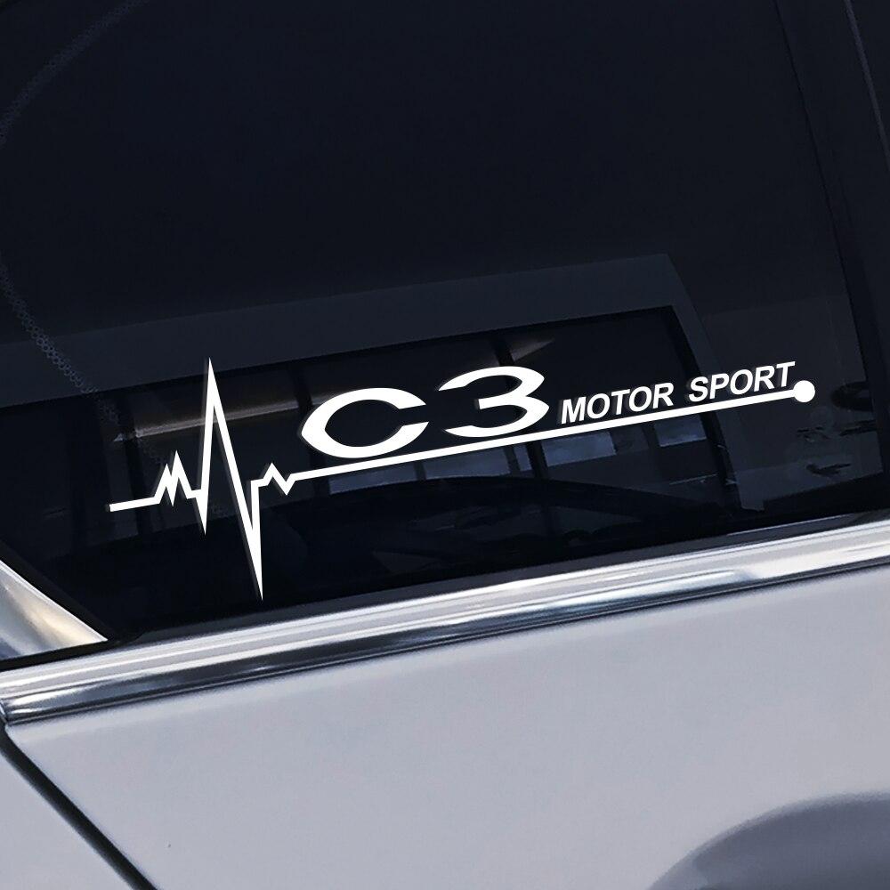Pegatinas de vinilo para ventana lateral de coche, 2 uds., calcomanías impermeables de estilo elegante para decoración de ventana de coche Citroen C3