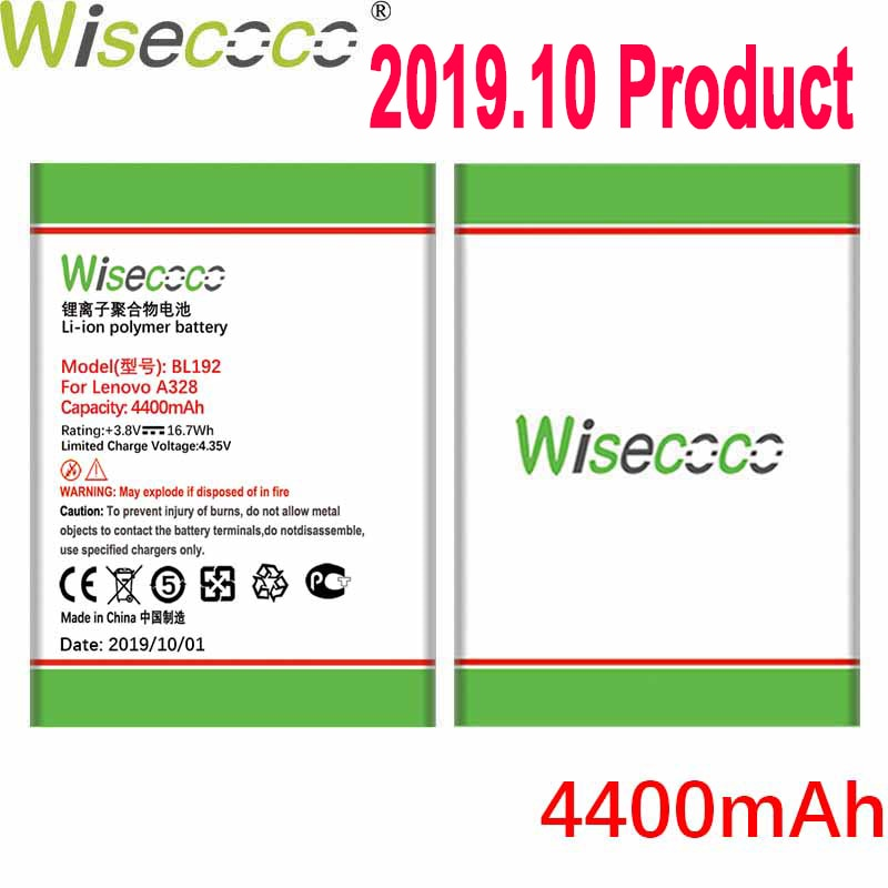 WISECOCO 4400 мАч BL192 батарея для Lenovo A300 A750 A328 A328T A526 A388T A529 A680 A590 A560 A505E мобильный телефон + номер отслеживания