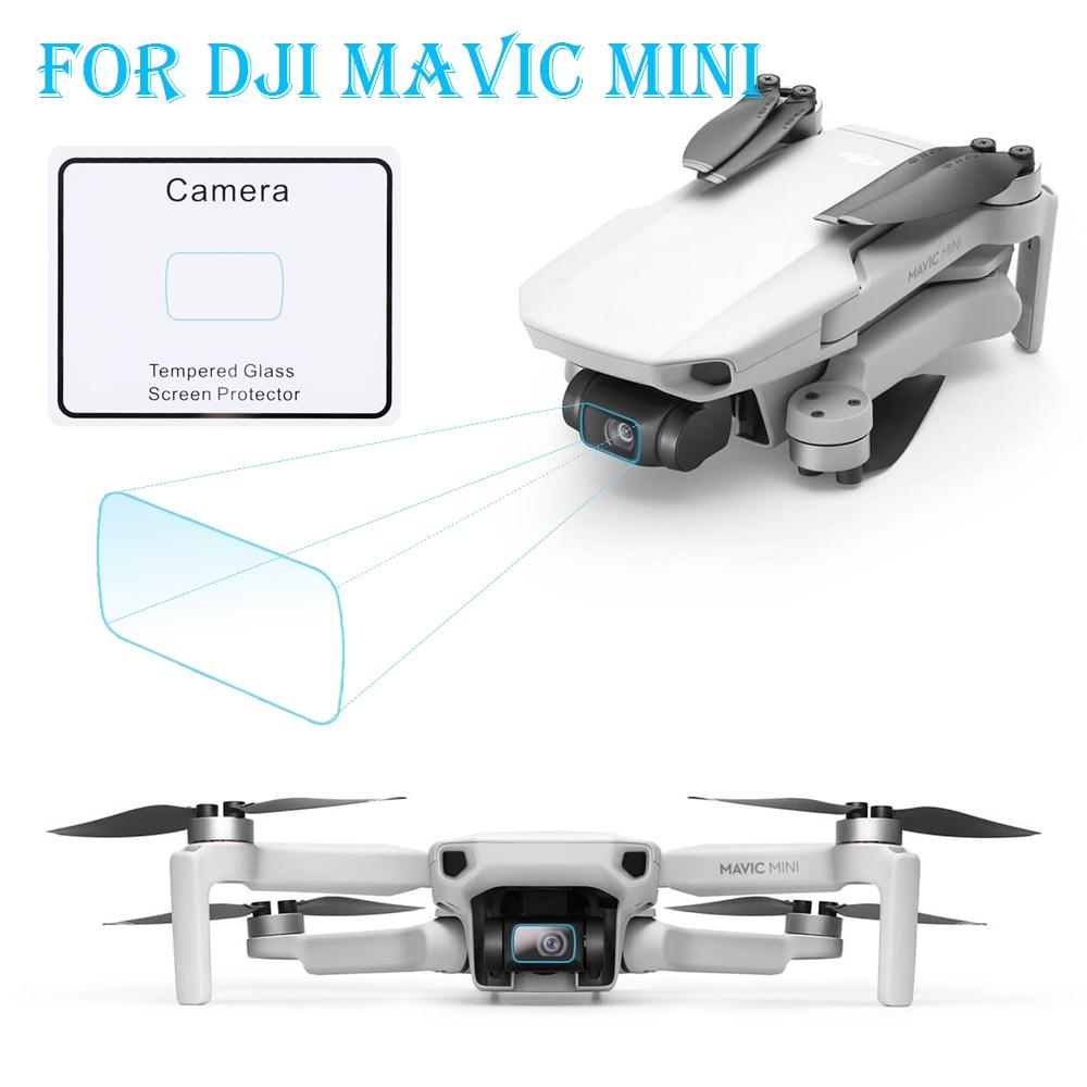 1 Uds HD pantalla Ultra delgada cubierta película de vidrio templado película protectora para DJI Mavic Mini/Mavic Air 2 Drone pantalla lente de cámara