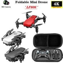 LF606 Mini Drone 4K WIFI FPV HD caméra Mode sans tête en un clic retour Altitude prise quadrirotor RC hélicoptère pour débutant