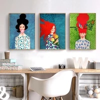living girls room decoration abstract one piece poster prints anime wall art canvas painting nordic vintage wall pictures woman